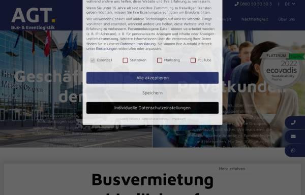 Vorschau von www.agtbusvermietung.de, AGT Busvermietung und Touristik GmbH