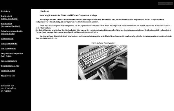 Vorschau von members.chello.at, Computereinsatz für Blinde und Sehbehinderte