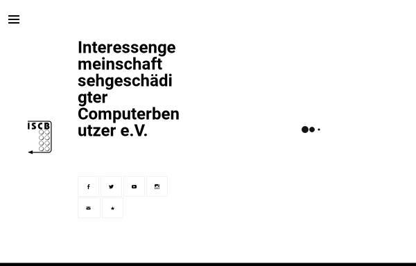 Vorschau von www.iscb.de, ISCB - Interessengemeinschaft sehgeschädigter Computerbenutzer