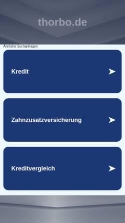 Vorschau der mobilen Webseite www.thorbo.de, THB