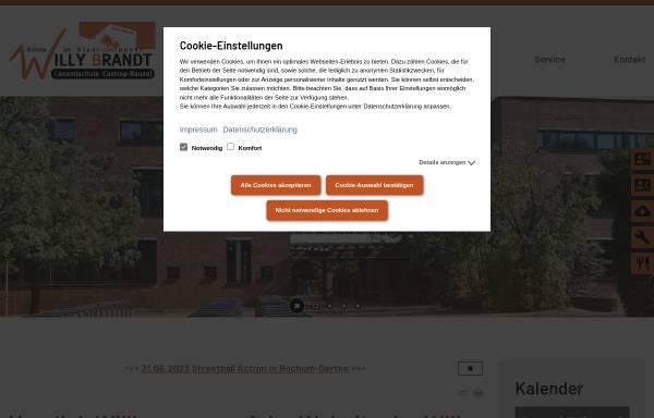Vorschau von www.wbg-cas.de, Willy-Brandt-Gesamtschule