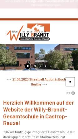 Vorschau der mobilen Webseite www.wbg-cas.de, Willy-Brandt-Gesamtschule