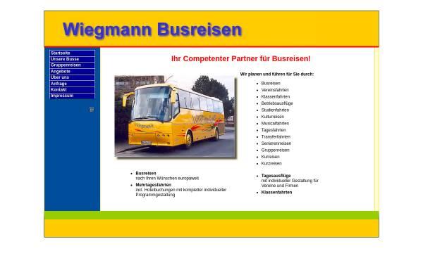 Vorschau von busreisen-wiegmann.de, Wiegmann Busreisen, Thomas Wiegmann