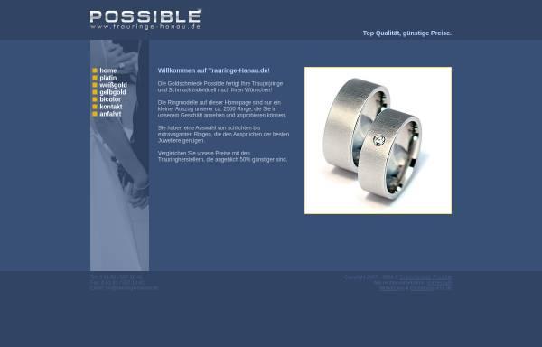 Vorschau von www.trauringe-hanau.de, Goldschmiede Possible