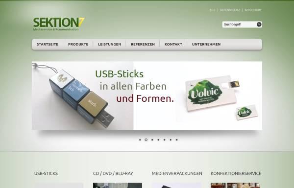 Vorschau von www.sektion7.de, Sektion 7 Media-Service und Kommunikation