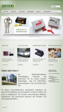 Vorschau der mobilen Webseite www.sektion7.de, Sektion 7 Media-Service und Kommunikation