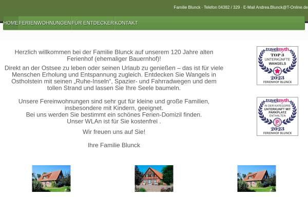 Vorschau von blunck-wangels.de, Bauernhof Blunck