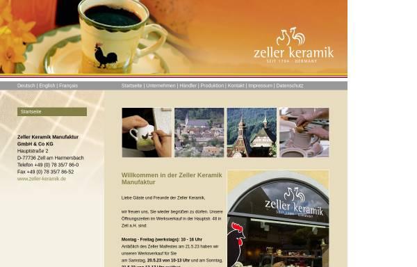 Vorschau von www.zeller-keramik.de, Zeller Keramik Geschwister Hillebrand GmbH