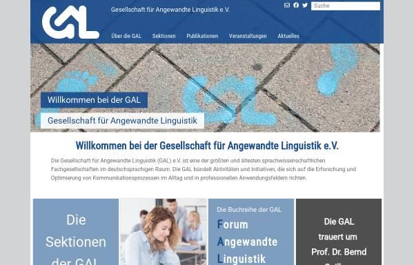Vorschau von www.gal-ev.de, Gesellschaft für Angewandte Linguistik (GAL)