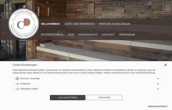 Vorschau von ausbildung-zum-saunameister.de, Christian Dohrn