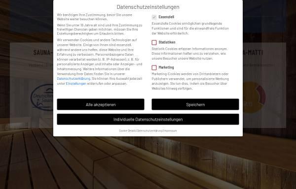 Vorschau von www.saunabund-ev.de, Deutscher Sauna-Bund e.V.