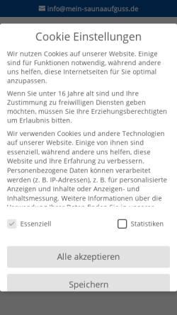 Vorschau der mobilen Webseite www.sauna-ratgeber.de, Sauna Ratgeber