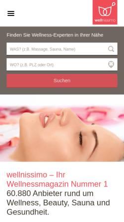 Vorschau der mobilen Webseite www.saunasauna.de, Sauna Sauna