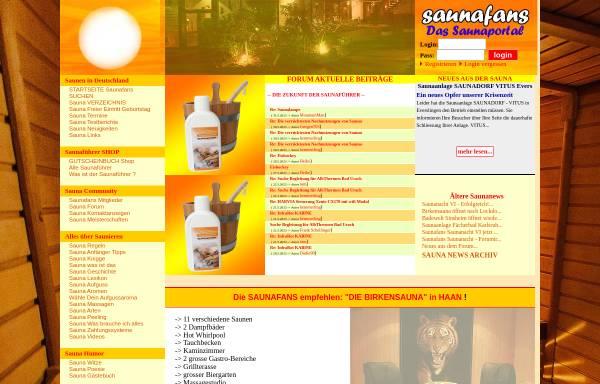 Vorschau von www.saunafans.de, Saunafans.de