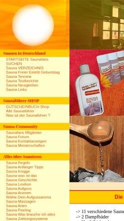 Vorschau der mobilen Webseite www.saunafans.de, Saunafans.de