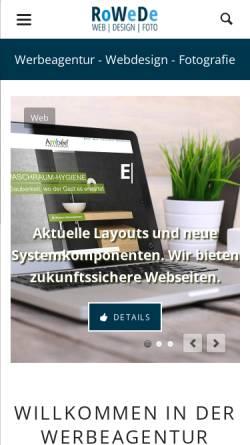 Vorschau der mobilen Webseite www.rowede.de, RoWeDe Jens Rohe