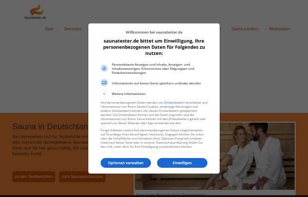 Vorschau von www.saunatester.de, Saunatester