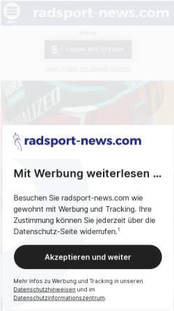 Vorschau der mobilen Webseite www.radsport-aktiv.de, Radsport aktiv