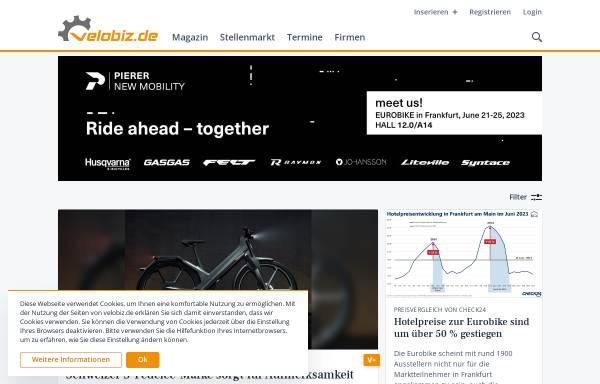 Vorschau von www.velobiz.de, Velobiz.de