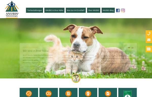 Vorschau von www.anubis-tierbestattung.de, Anubis-Tierbestattung
