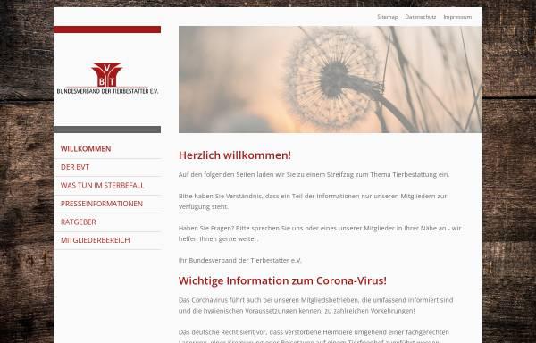 Vorschau von www.tierbestatter-bundesverband.de, Bundesverband der Tierbestatter e.V.