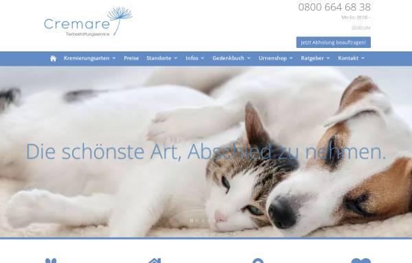 Vorschau von www.tierkrematorium-cremare.de, Cremare