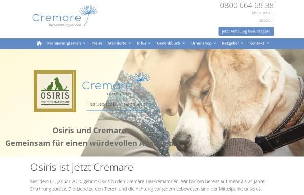 Vorschau von www.osiris-tierbestattungen.de, Osiris Tierbestattung GmbH