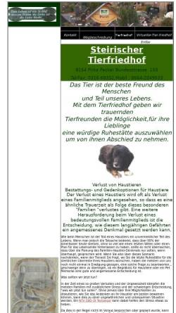 Vorschau der mobilen Webseite www.steirischer-tierfriedhof.at, Steirischer-Tierfriedhof