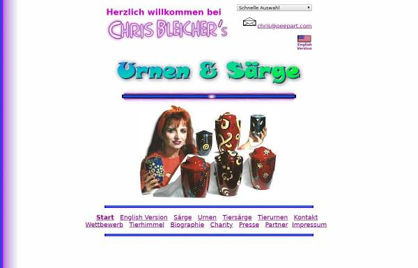 Vorschau von www.bleicher.com, Urnen und Särge aus Künstlerhand