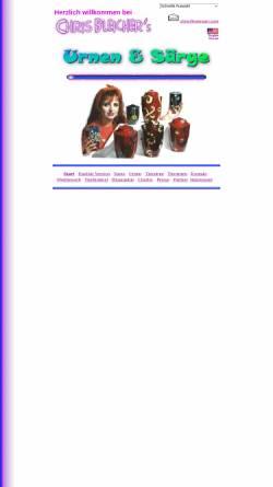 Vorschau der mobilen Webseite www.bleicher.com, Urnen und Särge aus Künstlerhand