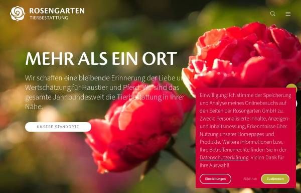 Vorschau von www.vtho.de, Vergissmeinnicht Tierbestattungen