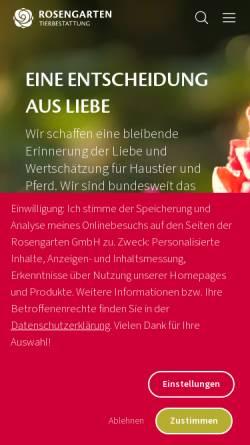 Vorschau der mobilen Webseite www.vtho.de, Vergissmeinnicht Tierbestattungen