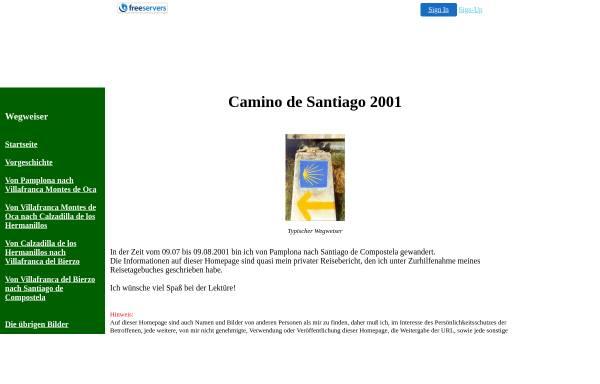 Vorschau von kspark.freeservers.com, Auf dem Camino de Santiago [K.-S. Park]