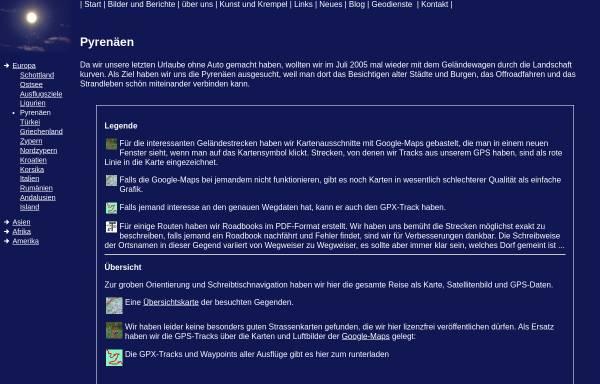 Vorschau von www.dianacht.de, Geländewagentouren in den Pyrenäen [Max Berger]