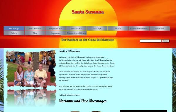 Vorschau von www.santa-susanna.de, Santa Susanna [Marianne & Uwe Meermagen]