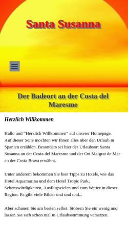 Vorschau der mobilen Webseite www.santa-susanna.de, Santa Susanna [Marianne & Uwe Meermagen]