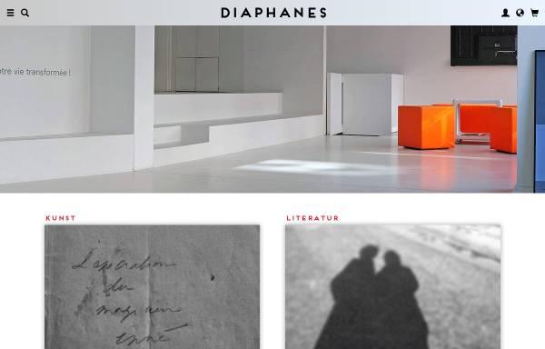 Vorschau von www.diaphanes.de, Diaphanes Verlag für internationale Philosophie und Kunsttheorie