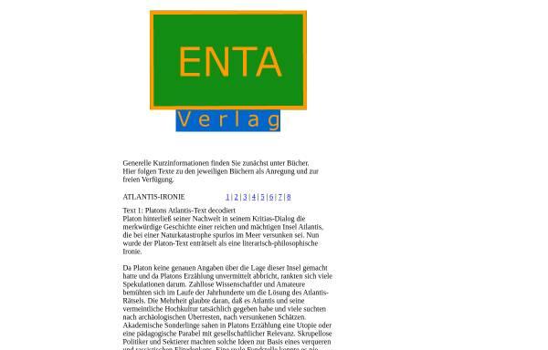 Vorschau von www.enta-verlag.de, ENTA-Verlag, Inh. Dr. Eugen Schweitzer