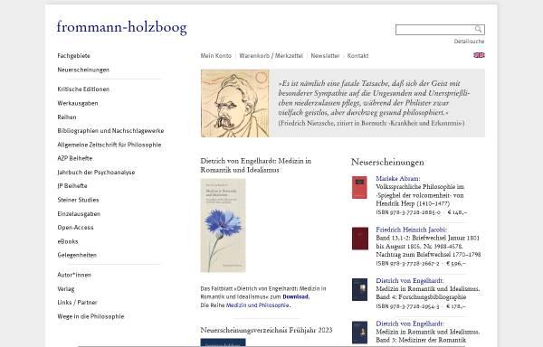 Vorschau von www.frommann-holzboog.de, Frommann Holzboog Verlag