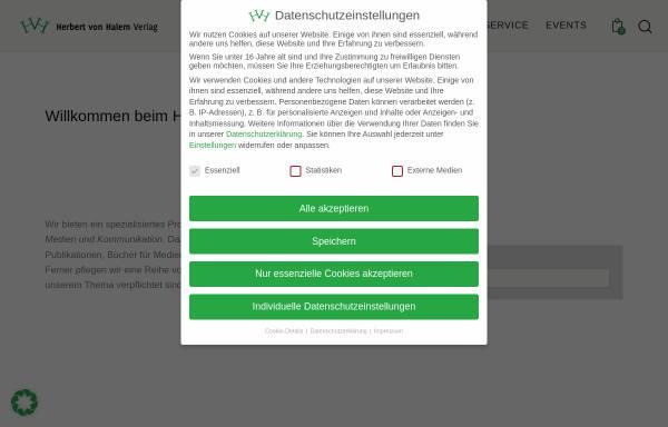 Vorschau von www.halem-verlag.de, Herbert von Halem Verlagsgesellschaft mbH & Co KG