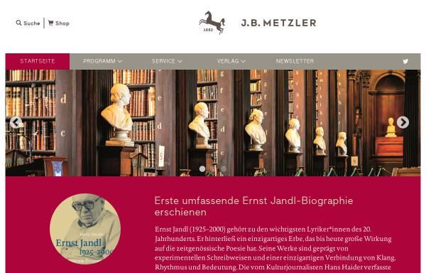 Vorschau von www.metzlerverlag.de, J.B. Metzler'sche Verlagsbuchhandlung und C. E. Poeschel Verlag GmbH Stuttgart·Weimar
