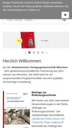 Vorschau der mobilen Webseite www.m-verlag.net, Martin Meidenbauer