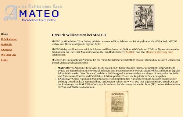 Vorschau von www.uni-mannheim.de, Mateo, Marabu und Camena