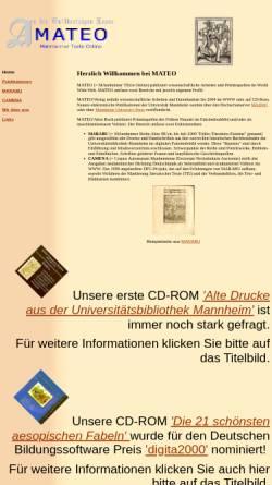 Vorschau der mobilen Webseite www.uni-mannheim.de, Mateo, Marabu und Camena