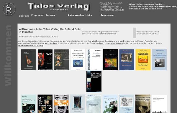 Vorschau von www.telos-verlag.de, Telos Verlag Dr. Roland Seim M.A.