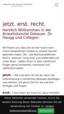 Vorschau der mobilen Webseite www.rechtsanwalt-muehldorf.de, Gebauer, Dr. Haugg & Coll.