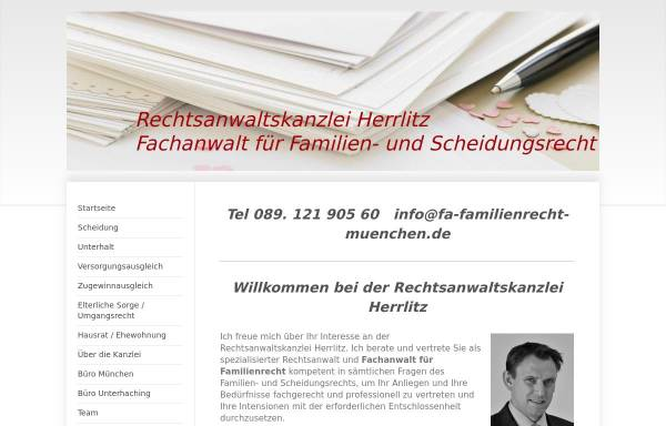 Vorschau von www.rechtsanwalt-herrlitz.de, Herrlitz Ralf