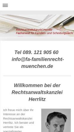 Vorschau der mobilen Webseite www.rechtsanwalt-herrlitz.de, Herrlitz Ralf
