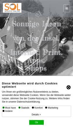 Vorschau der mobilen Webseite www.soldesign.de, SOL Service Online
