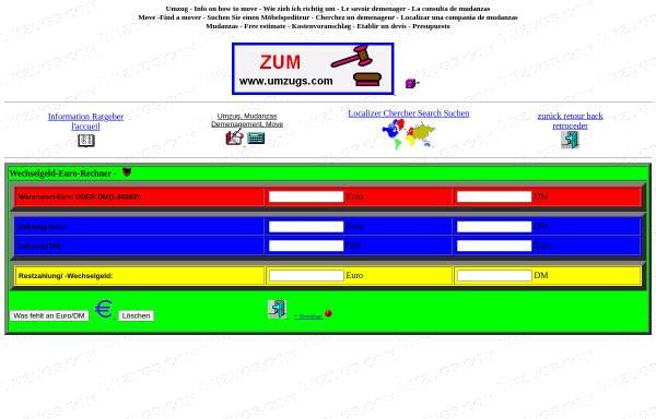 Vorschau von www.umzugs.com, Wechselgeld-Euro-Rechner
